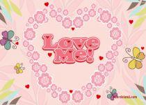 eCards Love Love Me, Love Me