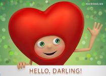 Free eCards, Love ecards free - Hello Darling,