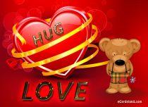 eCards  Hug Love,