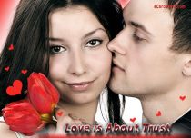 eCards Love Love is About Trust, Love is About Trust