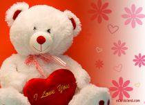eCards Love White Teddy Bear in Love, White Teddy Bear in Love