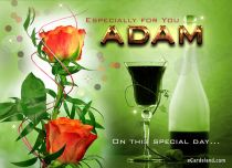 Free eCards Name Day - Men - Especially for You Adam,