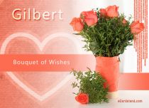 eCards Name Day - Men Bouquet of Wishes, Bouquet of Wishes