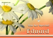 eCards Name Day - Men You Are Special Eduard, You Are Special Eduard