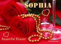 Free eCards Name Day - Women - Beautiful Roses for Sophia,