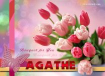 Free eCards Name Day - Women - Bouquet for You Agathe,