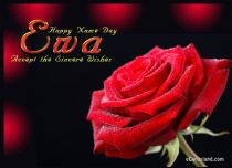 Free eCards Name Day - Women - Rose e-Card for Ewa,