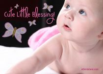 eCards Baby Cute Little Blessing, Cute Little Blessing