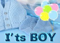 eCards Baby I'ts Boy, I'ts Boy
