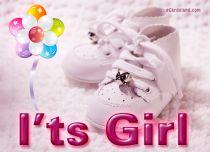 Free eCards Baby - I'ts Girl,