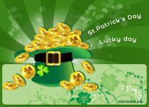 Free eCards St. Patrick's Day - Lucky Day,