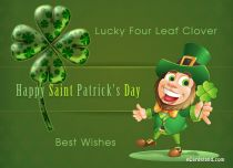 Free eCards St. Patrick's Day - Lucky Four Leaf Clover,