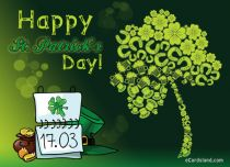 eCards St. Patrick's Day Lucky Tree, Lucky Tree