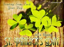 Free eCards St. Patrick's Day - Sending Some Luck,