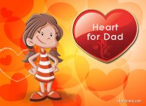 eCards Father's Day Heart for Dad, Heart for Dad