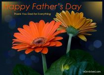 eCards Father's Day Thank You Dad for Everything, Thank You Dad for Everything