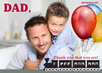 eCards Father's Day Thank You that You Are, Thank You that You Are
