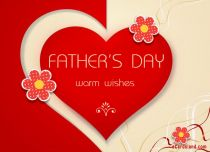 eCards Father's Day Warm Wishes, Warm Wishes