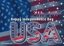 eCards Independence Day 4th July, 4th July