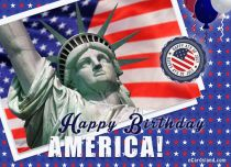 eCards Independence Day Happy Birthday America, Happy Birthday America