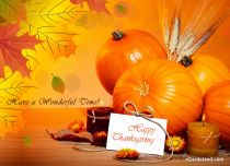eCards Thanksgiving Day Have a Wonderful Time, Have a Wonderful Time