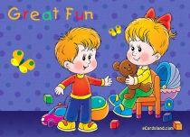 eCards Children's Day Great Fun, Great Fun