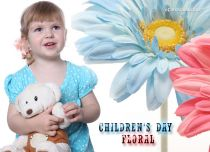 Free eCards, Children's Day cards online - Children's Day Floral,