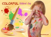 eCards Children's Day Colorful Children's Day, Colorful Children's Day