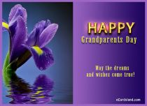 Free eCards, Grandparents Day ecards free - Flower e-Card,