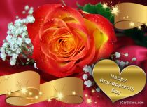Free eCards, Free Grandparents Day ecards - Rose Greeting e-Card,