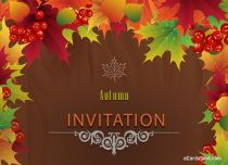 Free eCards Seasons - Autumn Invitation,