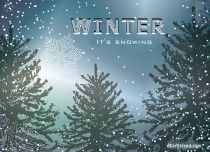 Free eCards Seasons - It's Snowing,