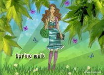 Free eCards Seasons - Spring walk,