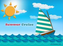 Free eCards Seasons - Summer Cruise,