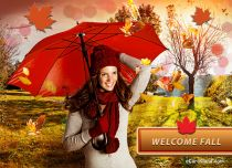 Free eCards Seasons - Welcome Fall,