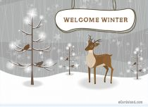 Free eCards Seasons - Welcome Winter,