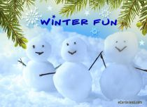 Free eCards Seasons - Winter Fun,