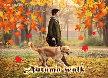Free eCards Seasons - Autumn walk,