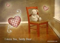 Free eCards Feelings - I Miss You Teddy Bear,