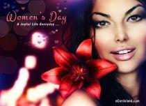 eCards Women's Day A Joyful Life Everyday, A Joyful Life Everyday
