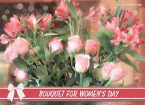 eCards  Bouquet for Women's Day,