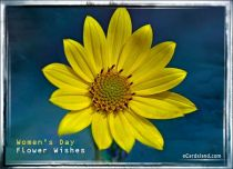 eCards Women's Day Flower Wishes, Flower Wishes