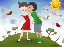 eCards Women's Day Kisses on Women's Day, Kisses on Women's Day