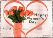 eCards Women's Day Plenty of Joy and Happiness, Plenty of Joy and Happiness