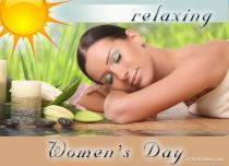 eCards Women's Day Relaxing Women's Day, Relaxing Women's Day