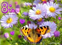 Free eCards, Free Women's Day ecards - Flowers e-Card,
