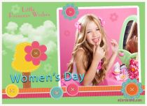 Free eCards, Free Women's Day ecards - Little Princess Wishes,