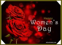 eCards Women's Day Message in Roses, Message in Roses