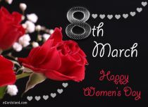 eCards Women's Day Red Roses and You, Red Roses and You