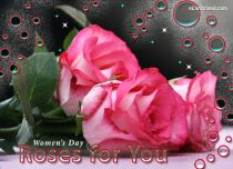 eCards Women's Day Roses Greeting e-Card, Roses Greeting e-Card